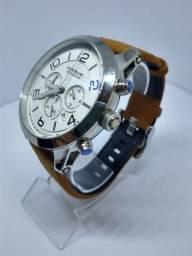 Relógio Montblanc pulseira de couro
