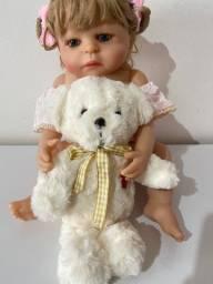 Bebê Boneca Reborn toda em Silicone tam 55 cm !