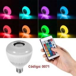 COD: 0071 Lampada Bluetooth Led Rgb Branco Caixa Som Musical (Entrega gratis)