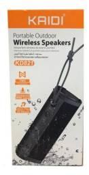 Caixa De Som Bluetooth Prova D'água Original Kaidi - Loja Natan Abreu