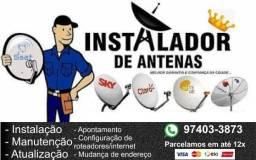 Instalador de antenas - apontamos pra todos satélites