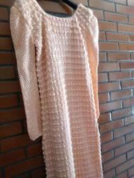 Vestido de crochê feito a mão