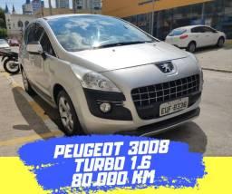 Peugeot 3008 Turbo 1.6 - com 80.000 km