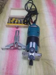 Tupia Makita 3709 Estado de Nova + kits frezas novas Vonder