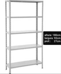 Estante / prateleira de Aço Cinza P 27 ( nova ) promoção