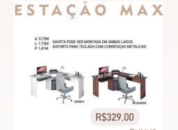 Estação max de trabalho mesa L mesa de computador