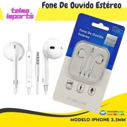 Fone de Ouvido Estéreo Modelo Iphone