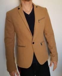 Blazer / Casaco Guess Marrom Claro Original Slim Importado Masculino