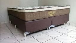 Cama Box + Colchao Classic Gold Ortobom Queen Size 158x198 Confira