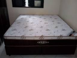 Cama Box + Colchao Sleep King Ortobom Queen Size 158x198 05 Anos de Garantia