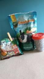 Ração para hamster, porquinho da Índia e coelho