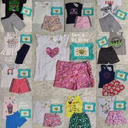 Conjunto infantil verão marcas variadas