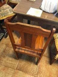 Cadeira madeira 6 unidades