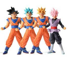 Dragon Ball Super 4 Peças Goku Action Figures