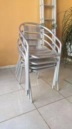 Conjunto cadeiras de alumínio