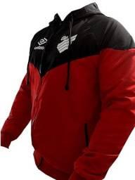 Jaqueta Corta Vento Athletico Paranaense Vermelha e Preta Otimo preço