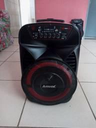 Caixa de som, amplificada amvox 380w novq