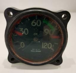 Instrumento avião - Pressão óleo