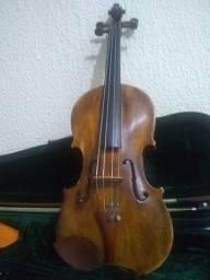 Violino sem etiqueta 4/4 verniz goma laca