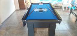 Mesa de Bilhar Charme Preta Tx Tecido Azul Personalizada Modelo OMJ9856