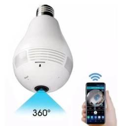 Camera Espiã Lampada LED Panorâmica 360° VR Cam