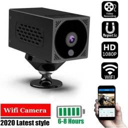 Mini Câmera Wifi 1080P Visão Noturna Wireless 7 Horas de Bateria