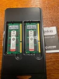 Memória RAM kingston 2x16gb (total 32gb) ddr3 notebook
