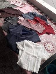 Blusas, Shorts e calças malha