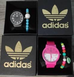 Relógio Feminino Adidas Colors + Pulseira Conjunto