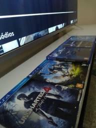 Jogos Playstation 4 / Mortal Kombat / Injustice 2 / Uncharted / Horizon / Fifa 19 /