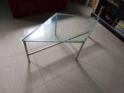 Mesa de centro de sala/mesa de alumínio e vidro