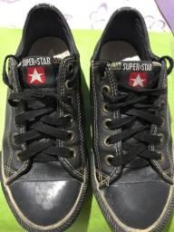 Super star ( all star ) original de couro