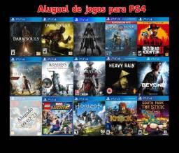 Aluguel de Jogos de PS4