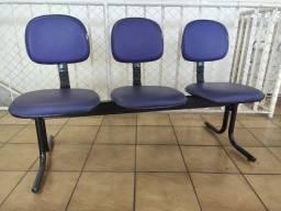 Cadeiras Longarina Executiva 3 Lugares