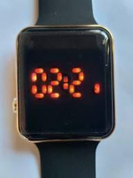 relógio de luxo digital pulseira de silicone led eletrônico