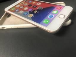 Iphone 8 PLUS rose 64GB tudo 100% bateria nova