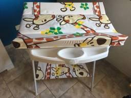 Banheira de Luxo Galzerano Girafas + Cadeira de Alimentação Galzerano Standart II Girafas