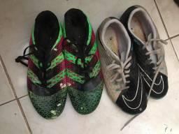 Chuteira Nike e Adidas Semi Nova