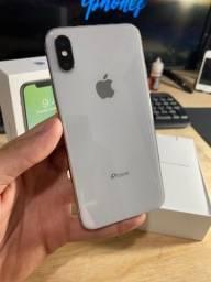 iPhone X 256gb Branco Impecável! Gabshop