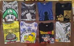 16 camisetas tamanho 14.