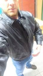 Jaqueta de couro marca javali