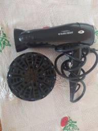 Secador de cabelo com modeladora de cachos