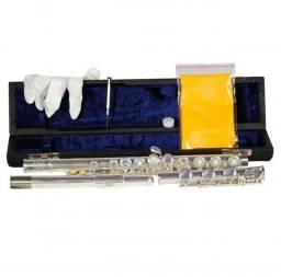 Flauta Transversal 17 Chav Abertas JFL201S Jahnke