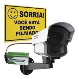 Câmera Falsa C/ Led a Bateria Sem Fio