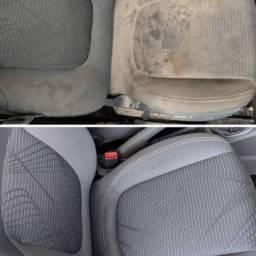 Limpeza e Higienização de bancos Automotivo 100R$