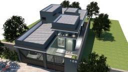 Título do anúncio: Casa nova com 3 suítes e área gourmet, no Res. Bongiovani, em P. Prudente- SP