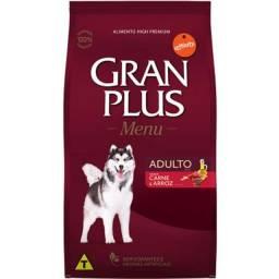 Ração GranPlus Menu Carne e Arroz para Cães Adultos Med/Gran 15kg