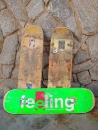 Três shapes usados de skate