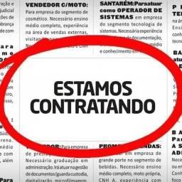 Título do anúncio: VAGA DE VENDEDOR E CALL CENTER