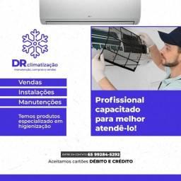 Limpeza e instalação de ar condicionado